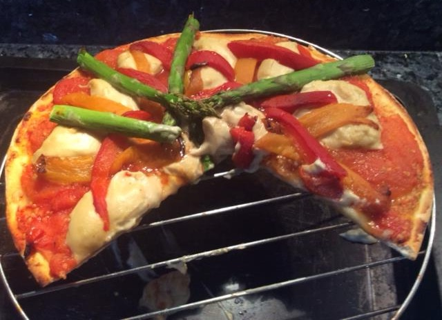 Maggie's Roasted Pepper and Tomato Pizza 06.JPG