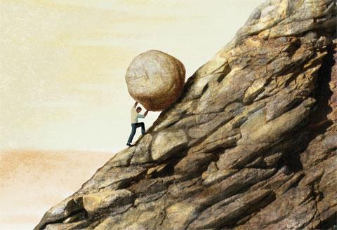 Pushing a boulder uphill.jpg